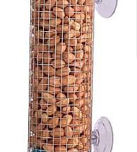 Ikkunaan kiinnitettävä ruokintateline pähkinöille